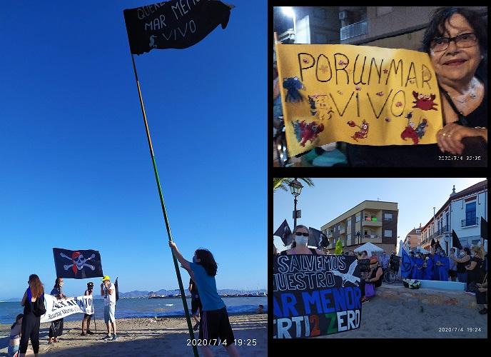 Banderas Negras por el Mar Menor y la Cuenca minera de El Llano a Cartagena, también La Aljorra