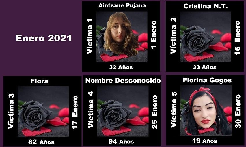 ENERO 2021 (5 ASESINATOS MACHISTAS)