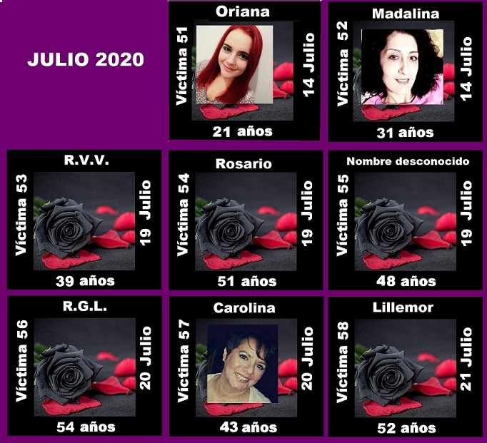 JULIO 2020 (8 ASESINATOS MACHISTAS)