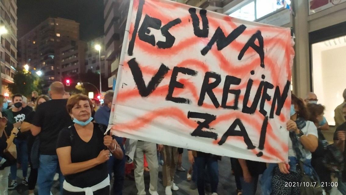 Más de 70.000 personas en la gran manifestación en Murcia, exigen que se actúe ya por el Mar Menor