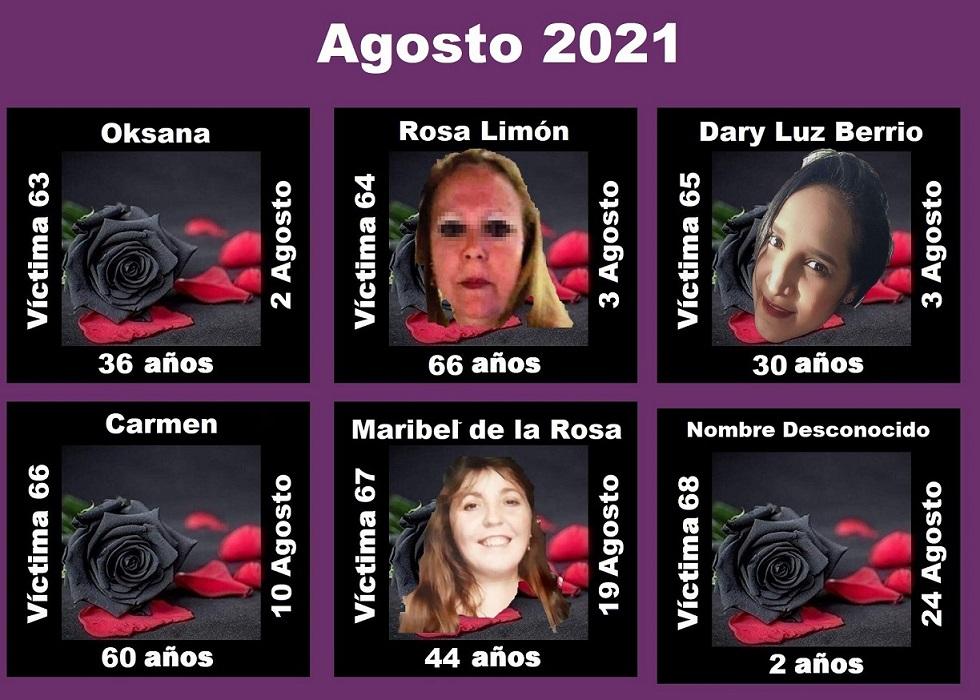 Agosto 2021 (6 asesinatos machistas)