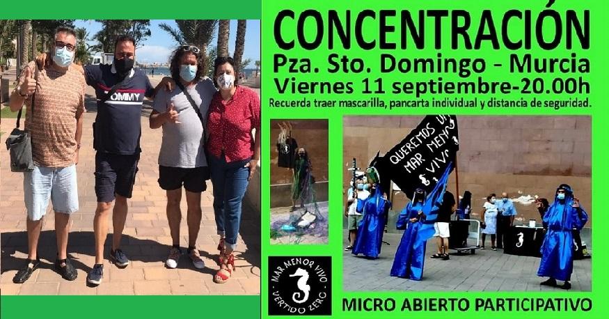 Mañana Por Un Mar Menor Vivo inaugura programa de Radio y el viernes concentración en Santo Domingo, Queremos Un Mar Menor Vivo