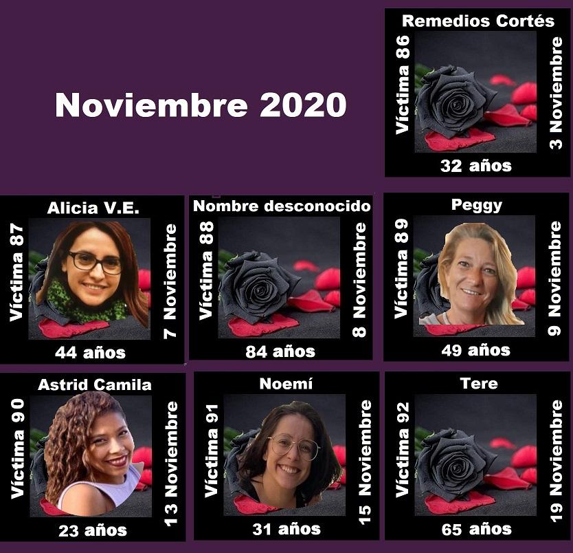 NOVIEMBRE 2020 (7 asesinatos machistas)