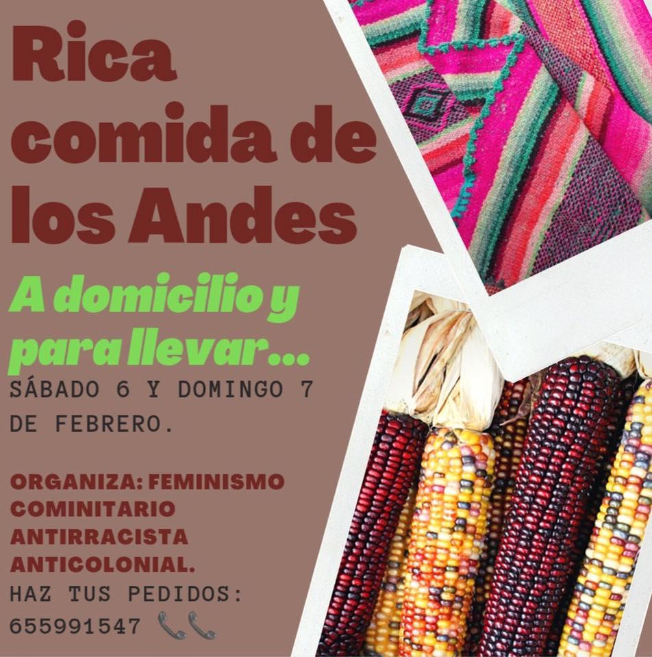 Feminismo Comunitario Antirracista Anticolonial en Valencia conecta con la comunidad a través de la cocina Andina