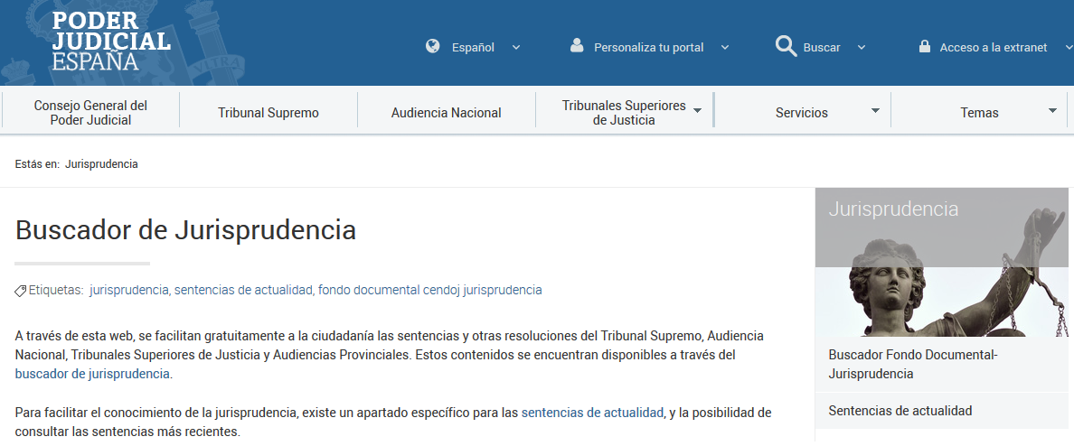 BUSCADOR DE JURISPRUDENCIA (PODER JUDICIAL)