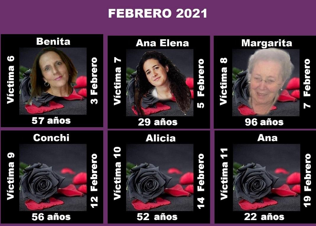 Febrero 2021 (6 asesinatos machistas)