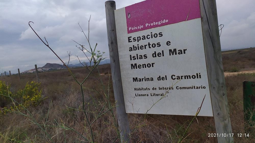 Marina de Carmolí, eliminar los vertidos sería la mejor protección de este espacio ya protegido