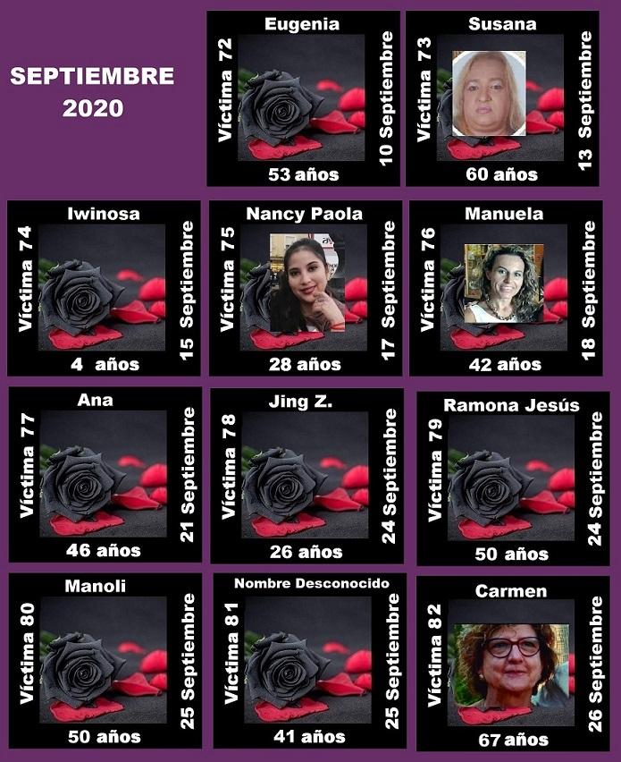 SEPTIEMBRE 2020 (11 ASESINATOS MACHISTAS)