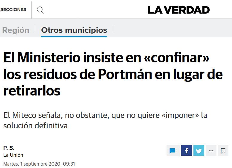 EL MINISTERIO RECONOCE QUE LOS RESIDUOS NO SON INERTES Y SI PELIGROSOS. NUESTRA SALUD ESTA EN RIESGO