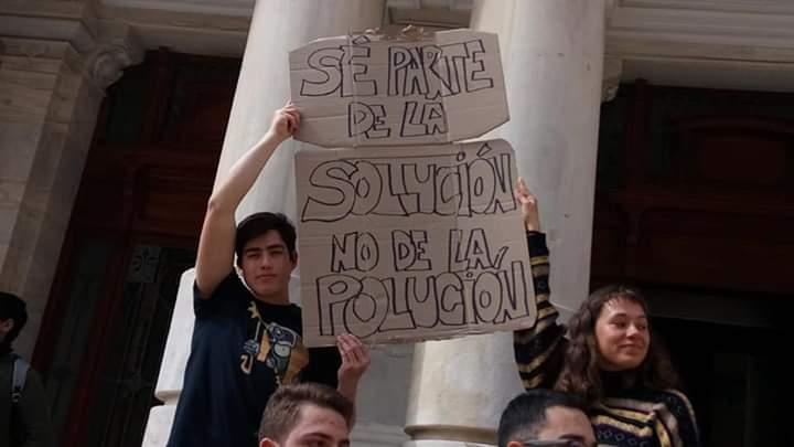 Jóvenes de Cartagena se suman a la protesta global por el cambio climático