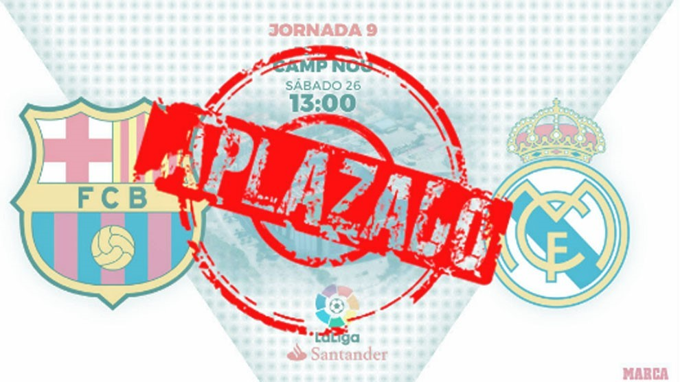 Oficial: el Clásico se aplaza y Barça y Madrid tienen que fijar la fecha antes del lunes 21 de octubre