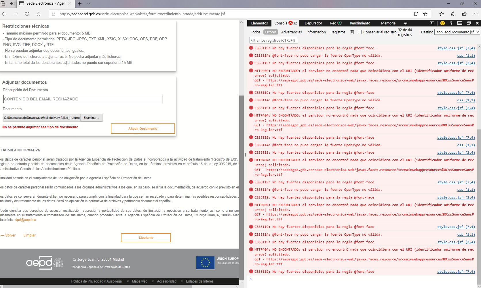 La infame web de la Agencia de Protección de Datos