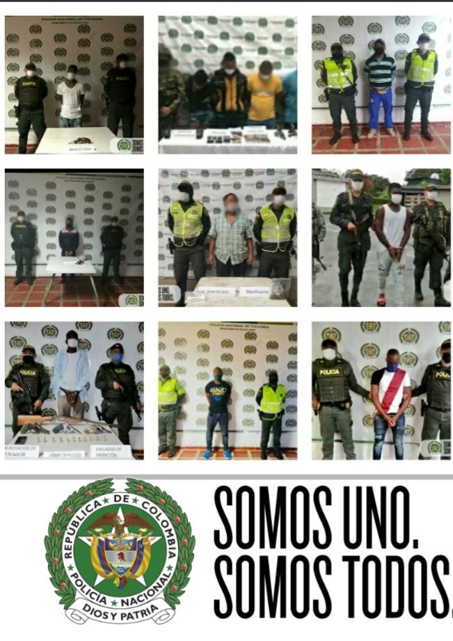 LA POLICÍA ENTREGA CONTUNDENTES RESULTADOS CONTRA INTEGRANTES DE GRUPOS ARMADOS ORGANIZADOS