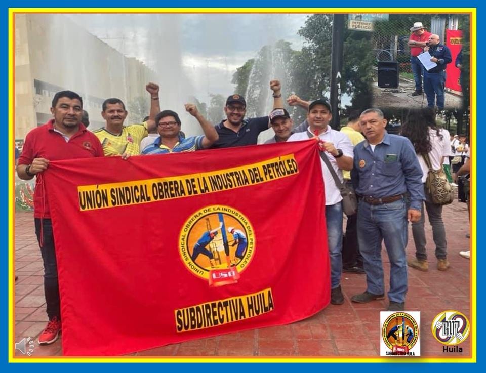 La CUT Huila, respalda la Unión Sindical Obrera en la Defensa del Patrimonio Público
