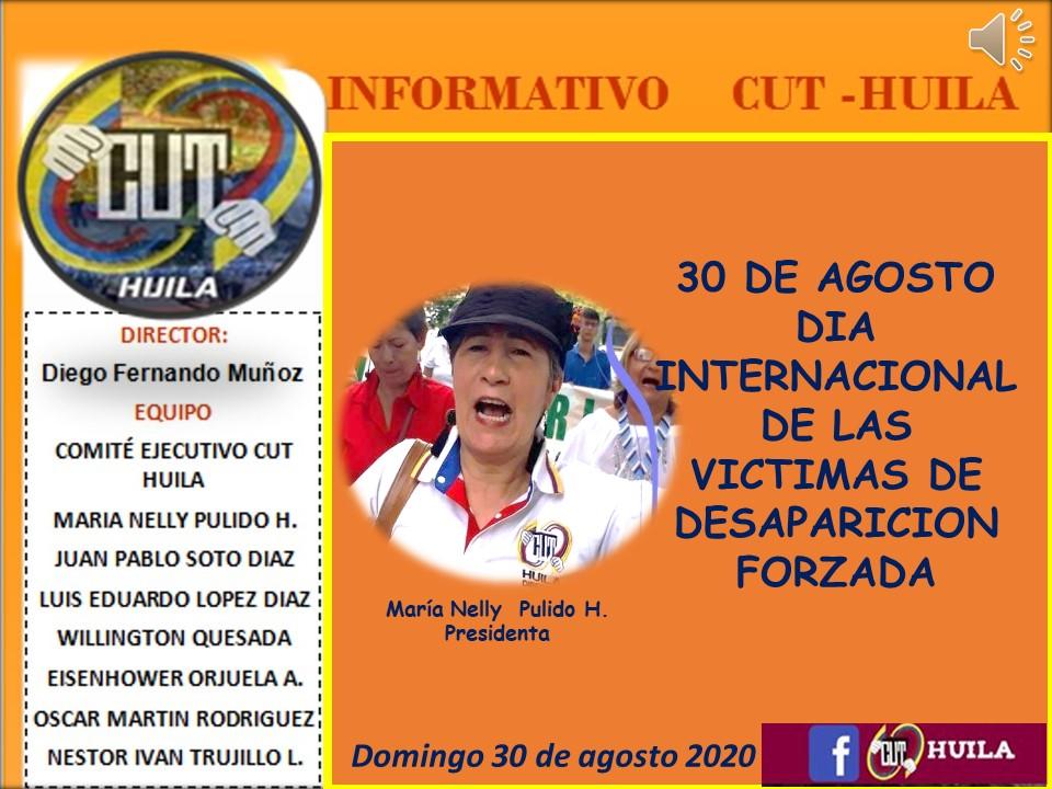 30 de Agosto Día Internacional de las Victimas de Desaparición Forzada
