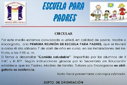 ESCUELA PARA PADRES ITEEC