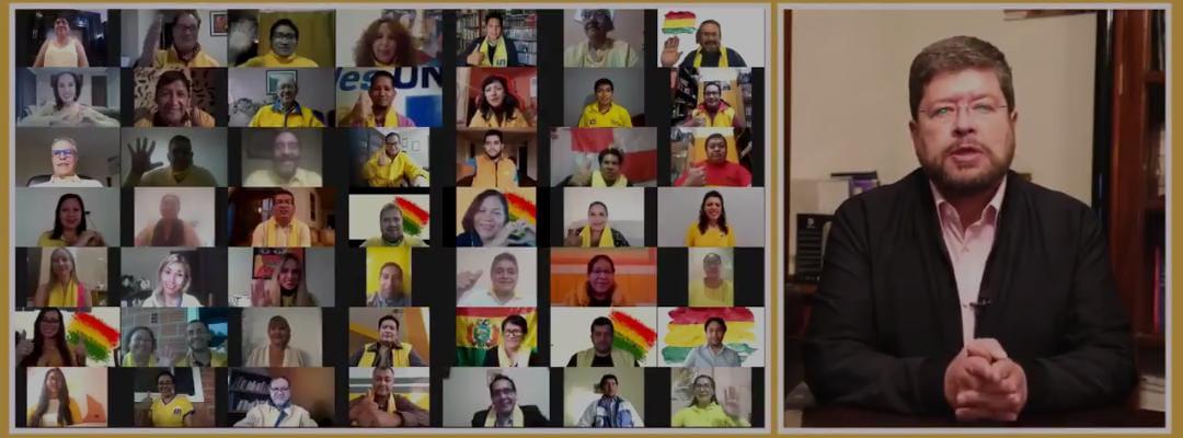 UNIDAD NACIONAL ANUNCIA ESTAR A FAVOR DE CARLOS MESA