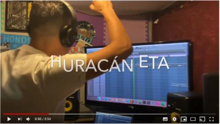 Crean canción a huracán ETA