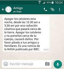 mensajes de whatsApp con información