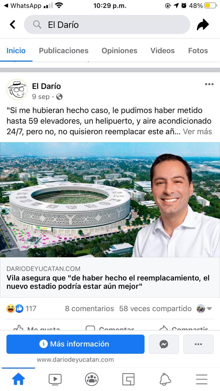 El gobernador asegura que de haber hecho el reemplacamiento, el nuevo estadio podría estar aun mejor
