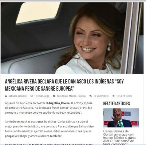 Dos noticias falsas de Angélica Rivera