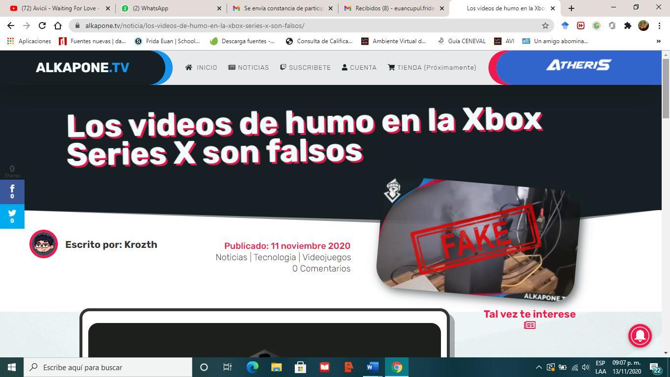 Los videos de humo en la Xbox Series X son falsos