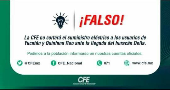 Falsa Alarma de la CFE