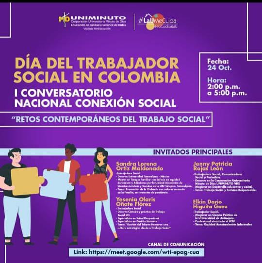 CONVERSATORIO DE LA UNIVERSIDAD UNIMINUTO CELEBRANDO EL DÍA DEL TRABAJADOR SOCIAL