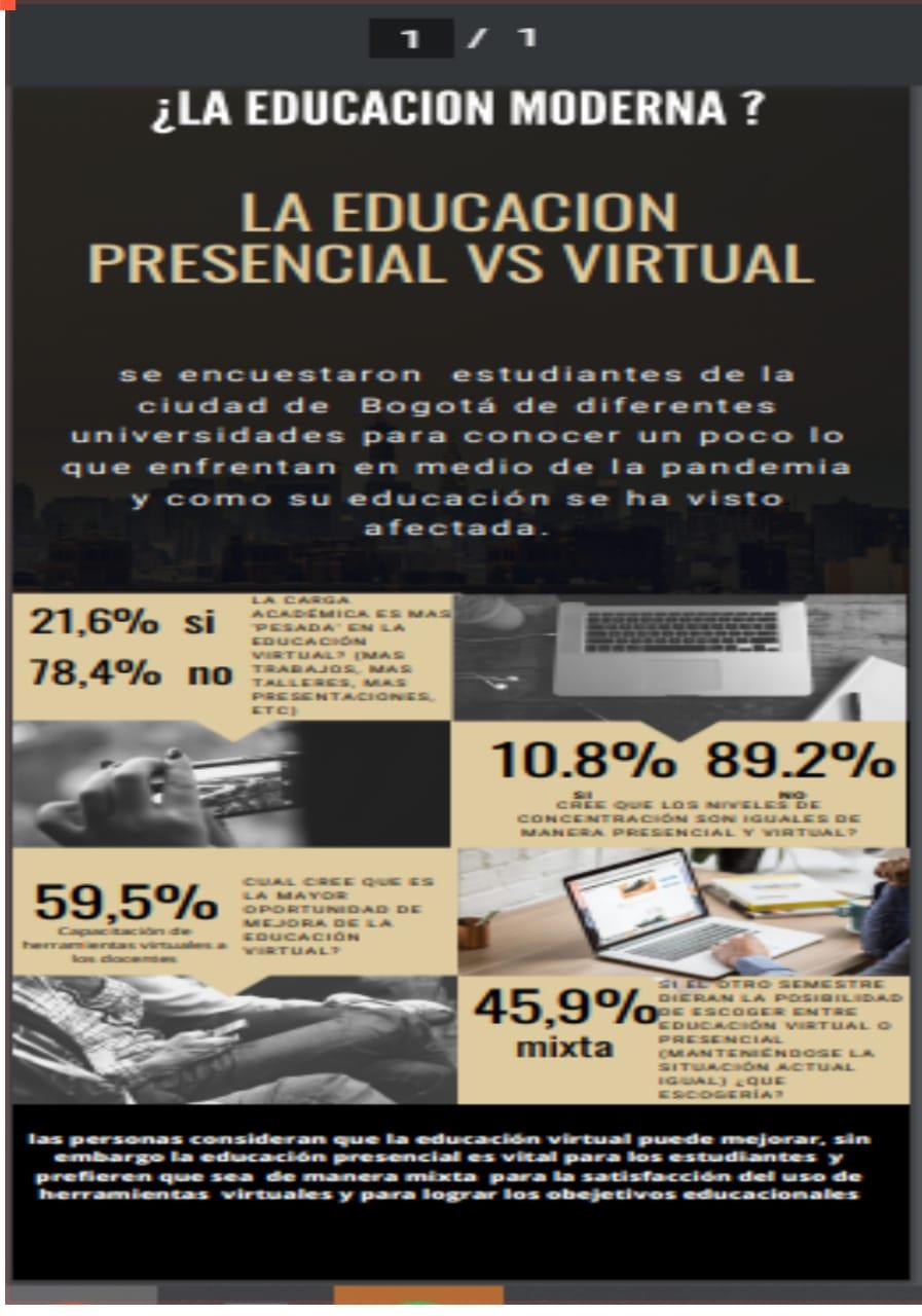 ¿ Educación virtual o presencial ?