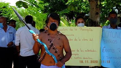 Dirigentes de las comunidades de la parroquia Taracoa realizaron un plantón