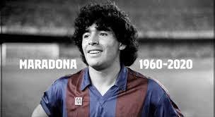 FC Barcelona se bajan sus banderas a media asta para el fallecimiento de Maradona