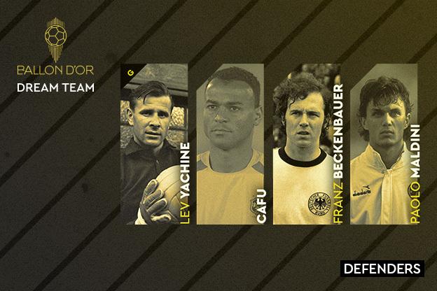 Yashin, Cafú, Beckenbauer y Maldini, la mejor defensa de la historia