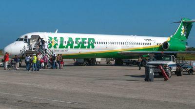 Laser tendrá vuelos especiales para pasajeros afectados por suspensión