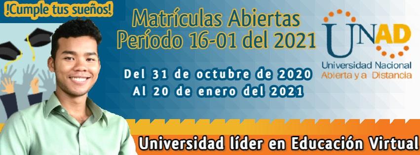 Matrículas Abiertas 16-01 2021