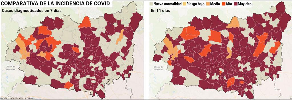 El municipio de Cuadros continua en su baja incidencia y no se encuentra entre los 26 municipios en alto riesgo por coronavirus.