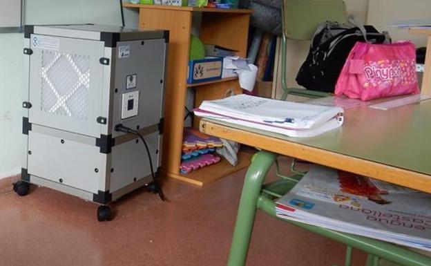 Purificadores anti-covid en las aulas.