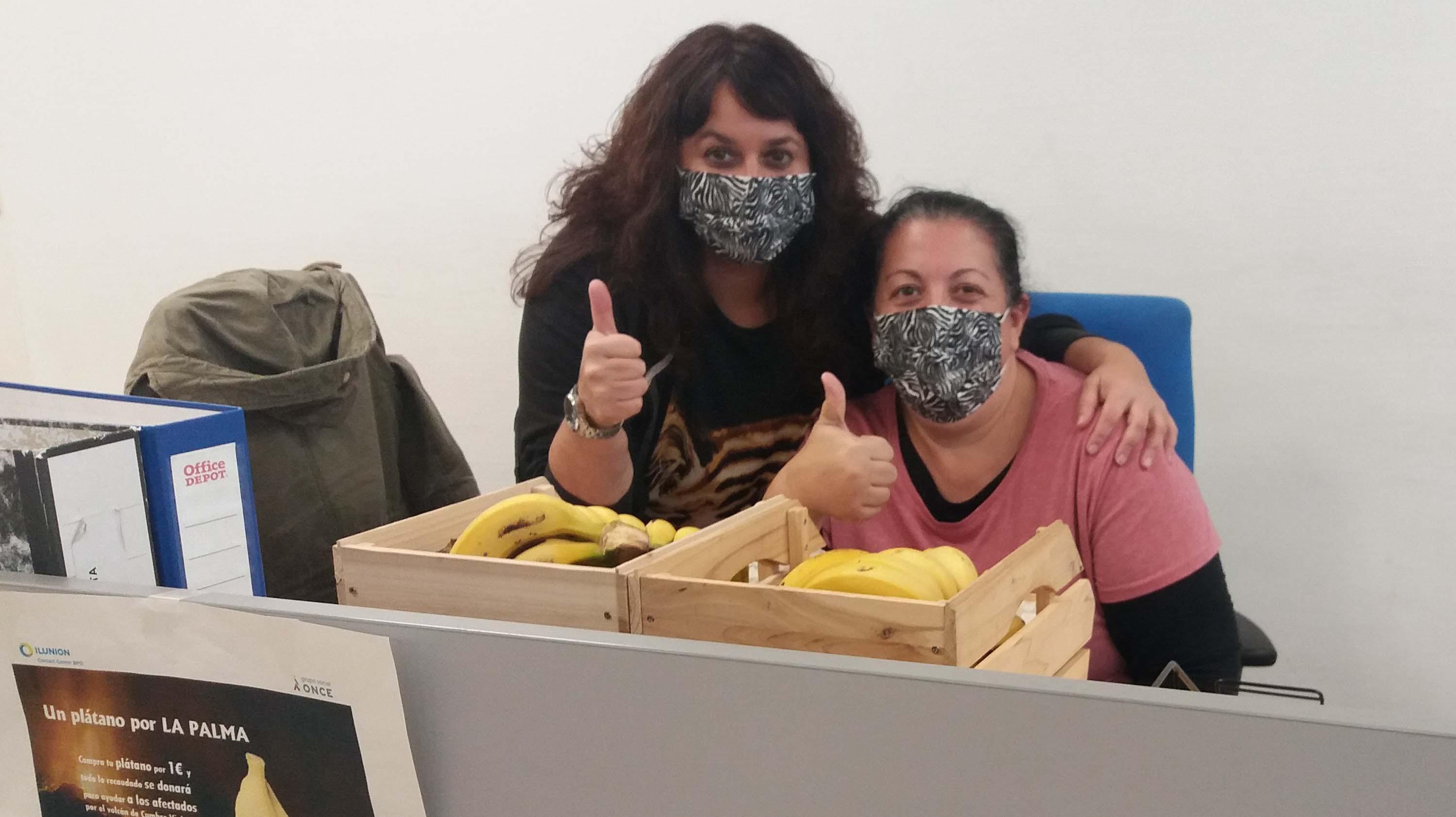 El contact center de ILUNION lanza 'Un plátano por La Palma', para ayudar a los afectados de Cumbre Vieja