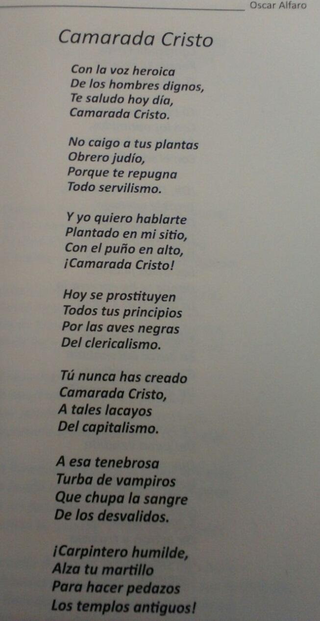 Camarada Cristo (Oscar Alfaro)