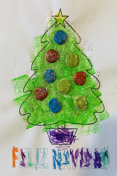Los escolares regalan mensajes y plantas a los mayores de las residencias estas Navidades