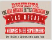 El 24 de septiembre es el día mágico en los comercios de Las Rozas
