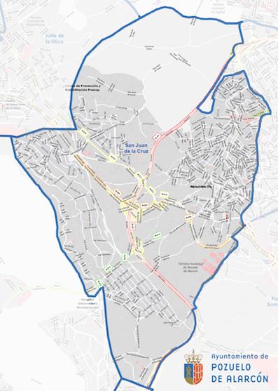 Se restringe la movilidad en la zona básica de San Juan de la Cruz de Pozuelo de Alarcón