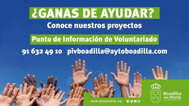 La Bolsa de Voluntariado de Boadilla cuenta con 300 personas