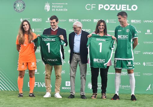 Iker Casillas acompaña al CF Pozuelo en su arranque de temporada