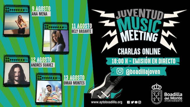 Directos en @boadillajoven con Omar Montes, Ana Mena, Bely Basarte y Andrés Suárez