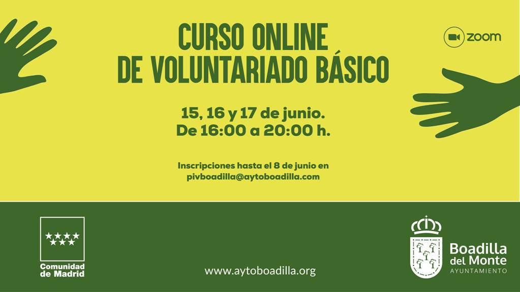 Boadilla ofrece un curso online para hacerse voluntario