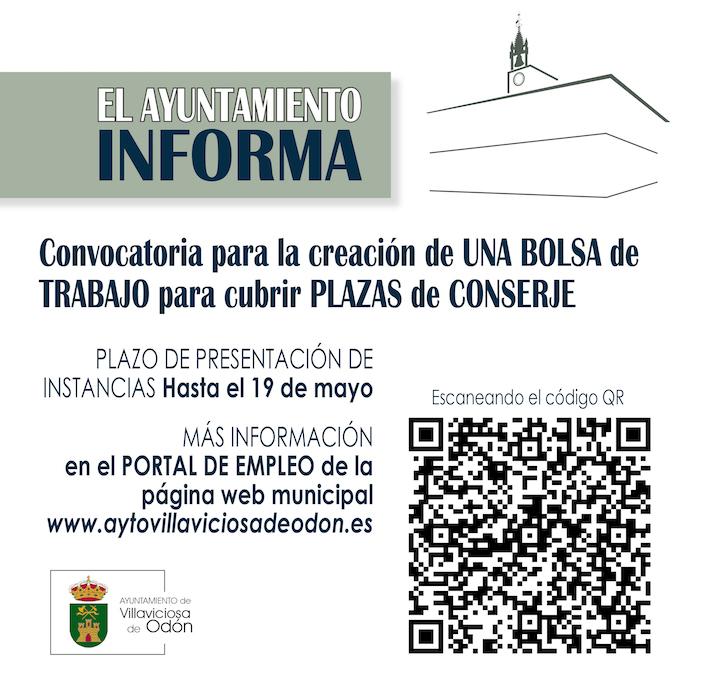 Plazas libres de conserje en Villaviciosa de Odón