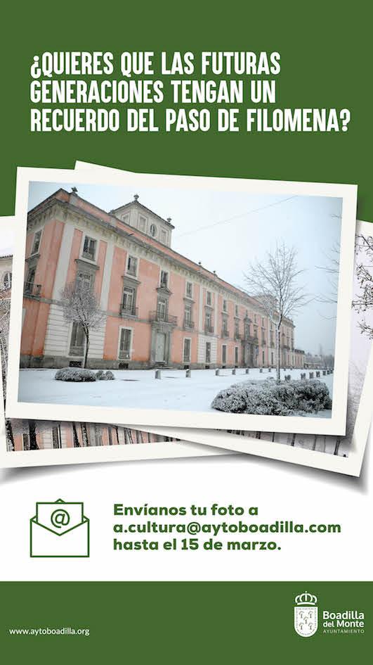 El Ayuntamiento de Boadilla pide a sus vecinos fotografías de Filomena para el Archivo Municipal