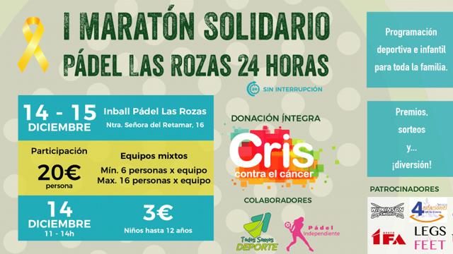 24 horas de pádel solidario en Las Rozas