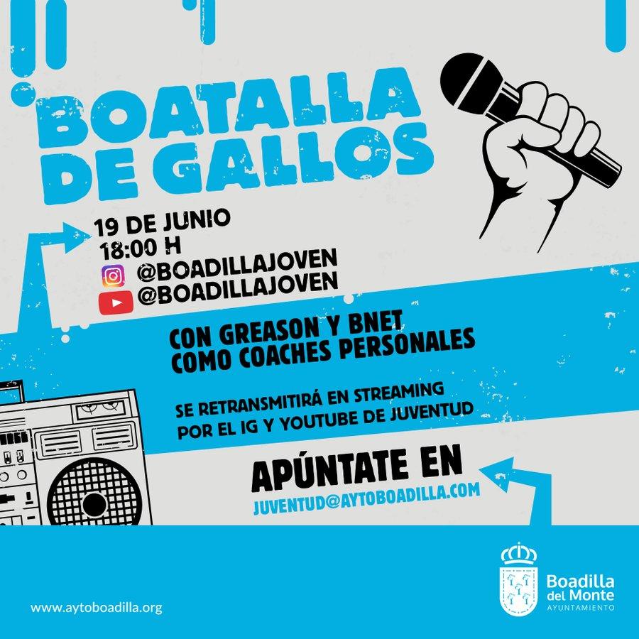 """Boadilla celebra su primera """"Batalla de Gallos"""" el 19 de junio"""