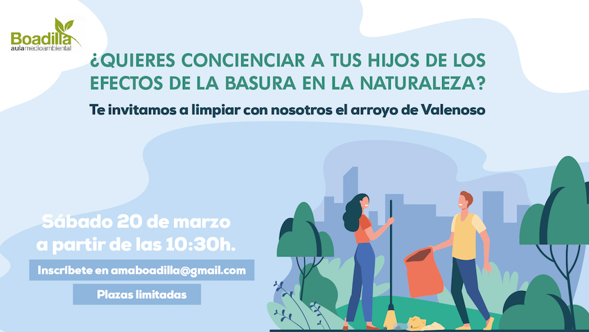 Únete a la limpieza del arroyo de Valenoso en Boadilla el próximo 20 de marzo